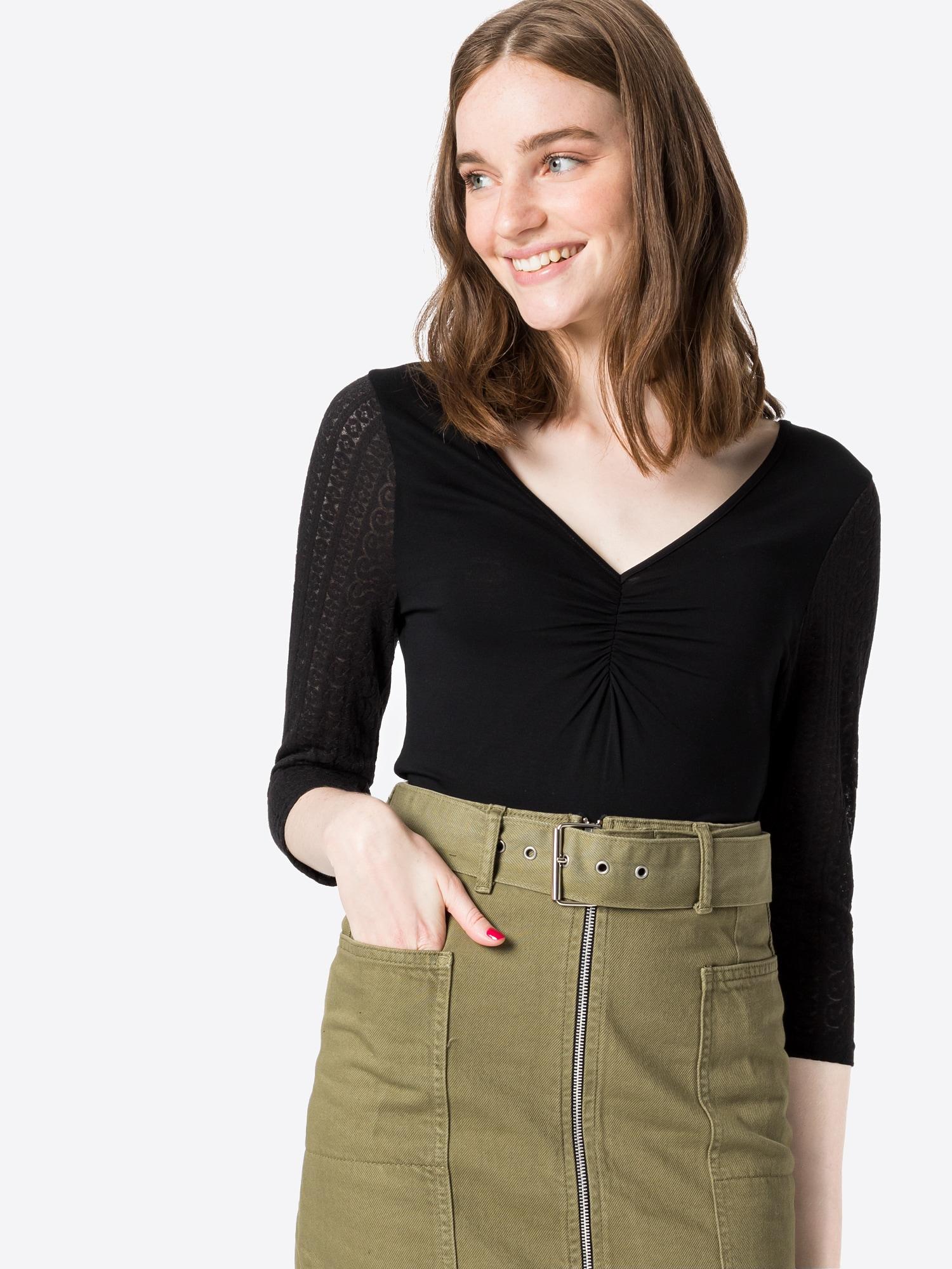 ABOUT YOU Tričko Caroline  čierna dámské XL