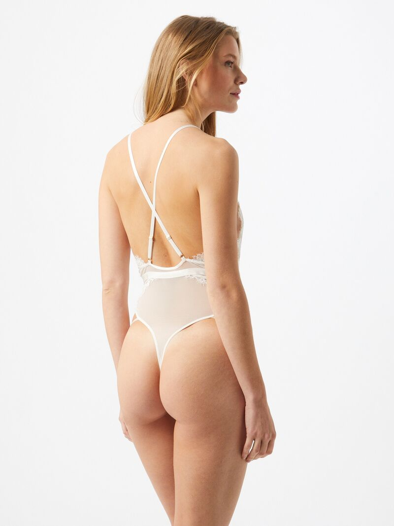 ABOUT YOU x hunkemöller Body Riley  biela dámské XL