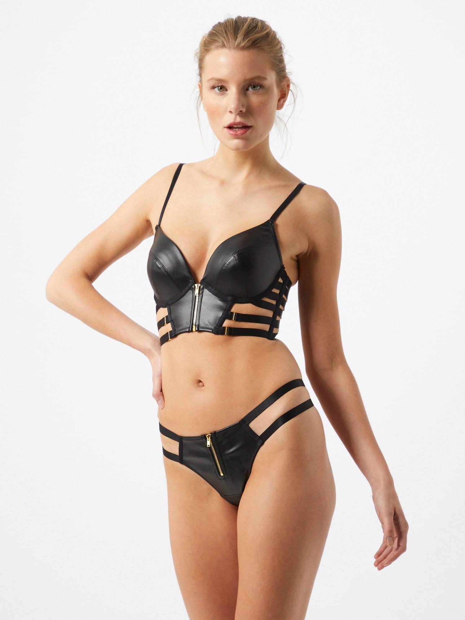 ABOUT YOU x hunkemöller Tangá Ciara  čierna dámské XL