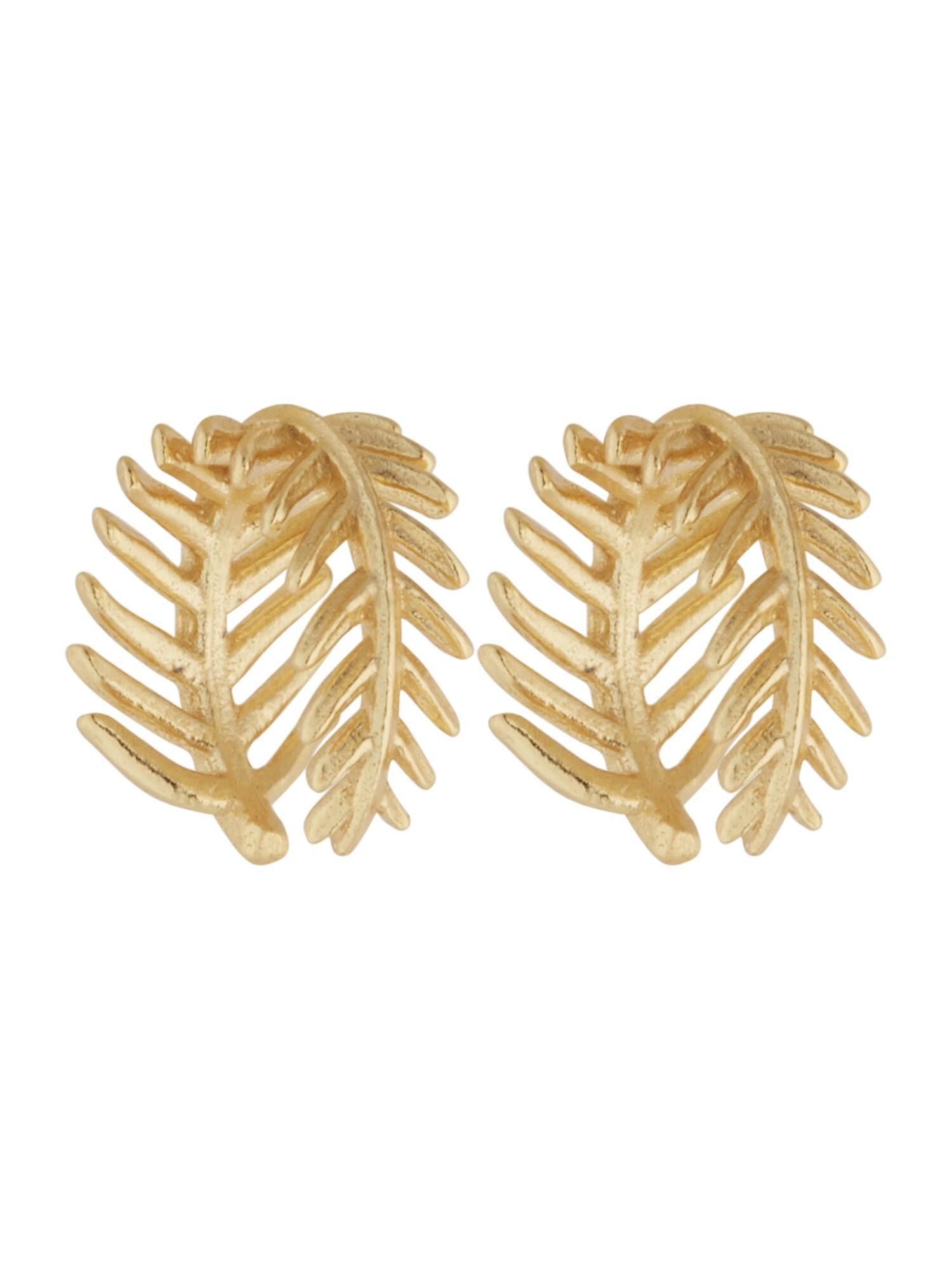 ANIA HAIE Náušnice Palm  zlatá dámské One Size