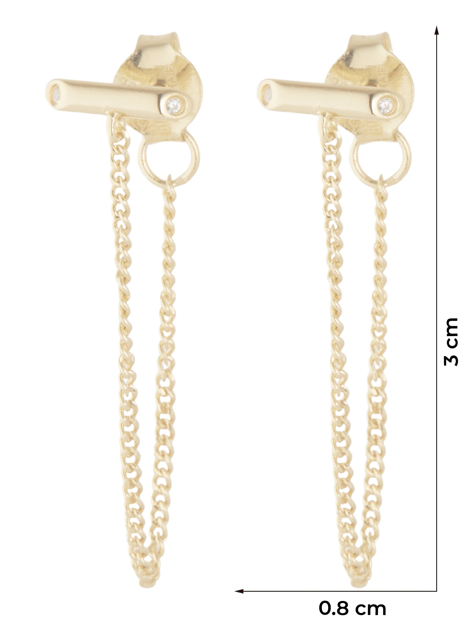ANIA HAIE Náušnice Shimmer  zlatá dámské One Size