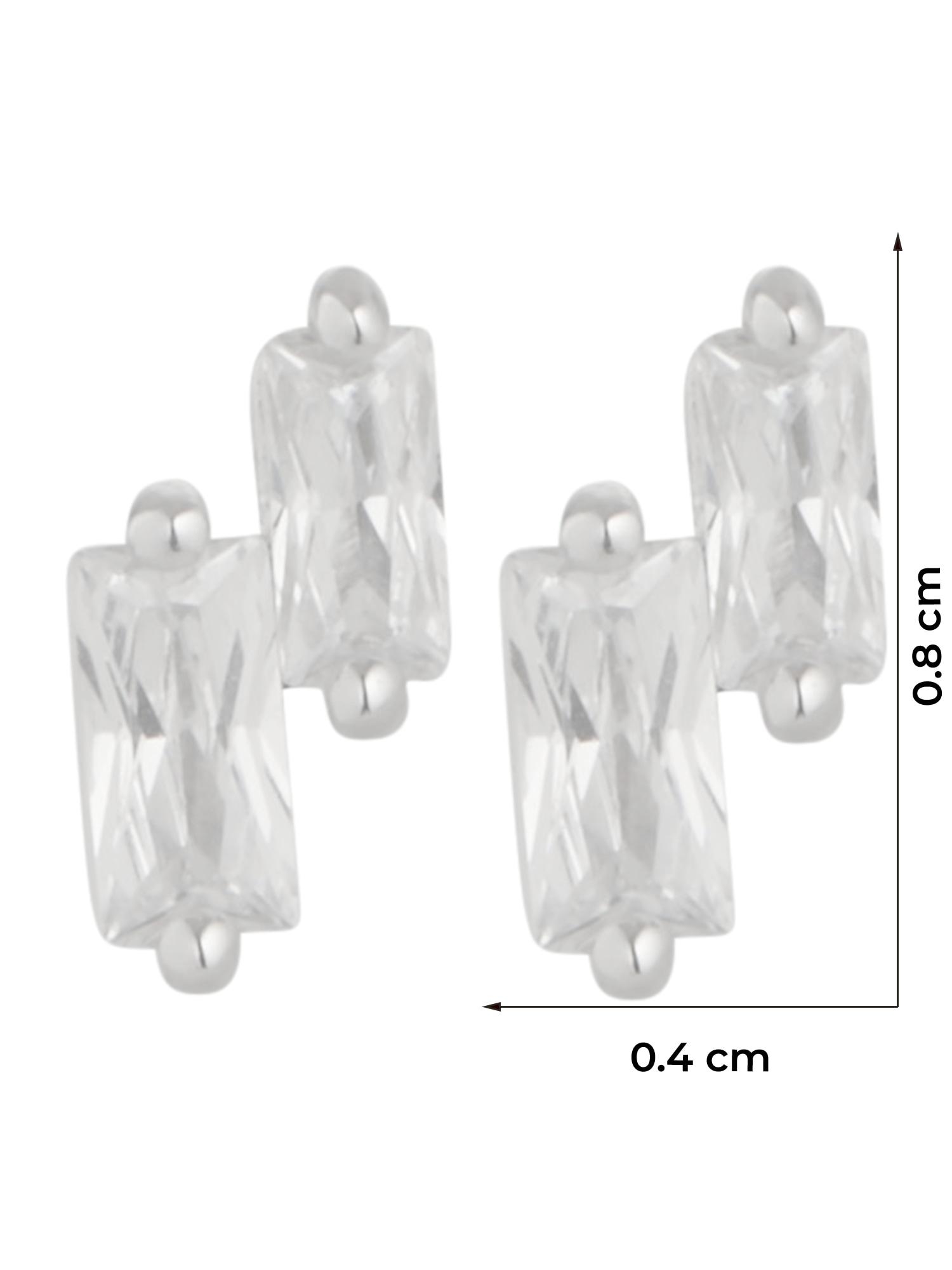 ANIA HAIE Náušnice  strieborná / priehľadná dámské One Size