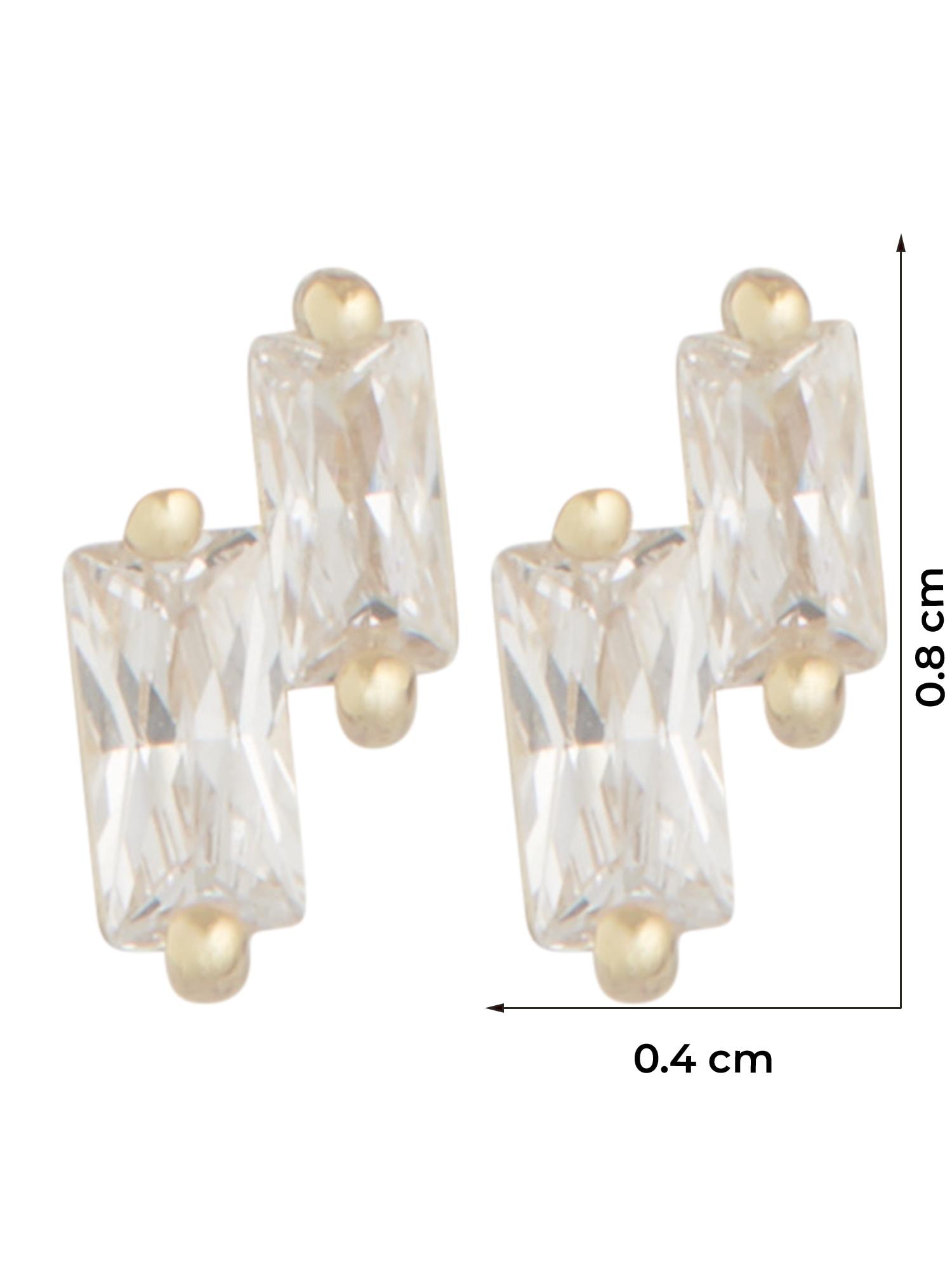 ANIA HAIE Náušnice  zlatá / priehľadná dámské One Size