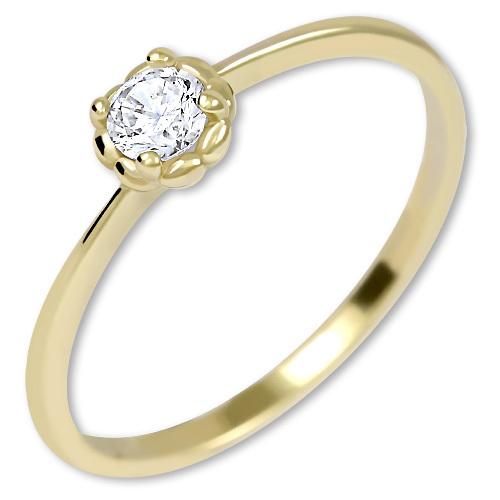 Brilio Nežný zásnubný prsteň zo zlata 226 001 01034 52 mm