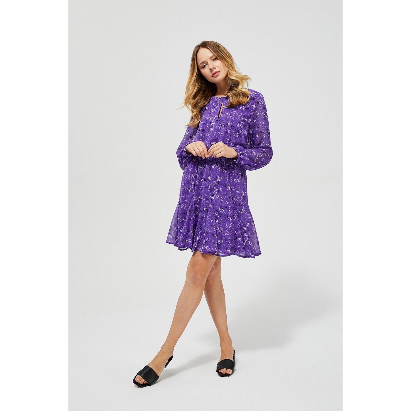 chiffon dress with a frill dámské Other M
