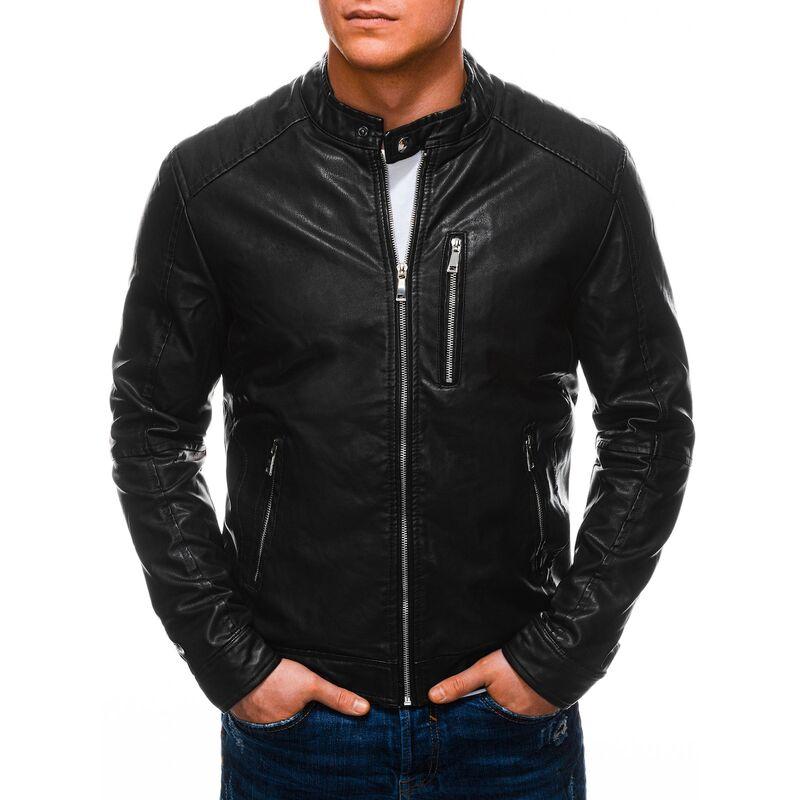 Edoti Mens biker jacket C490 pánské Black L