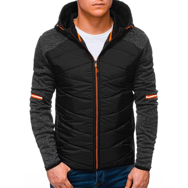 Edoti Mens mid-season jacket B1254 pánské Black XXL