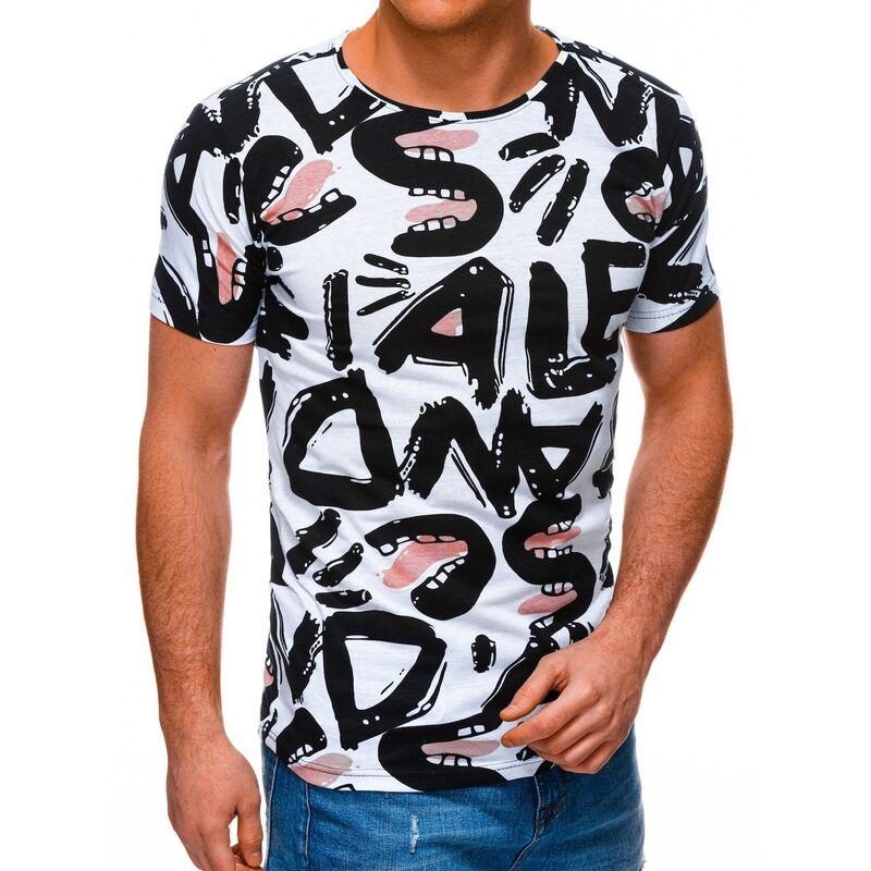 Edoti Mens t-shirt S1393 pánské White M