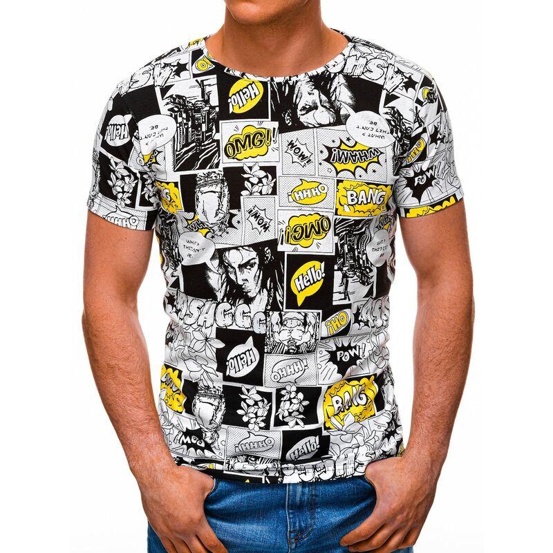 Edoti Mens t-shirt S1394 pánské White M