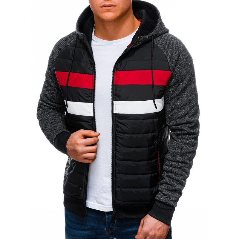 Edoti Mens zip-up sweatshirt B1247 pánské Black XXL