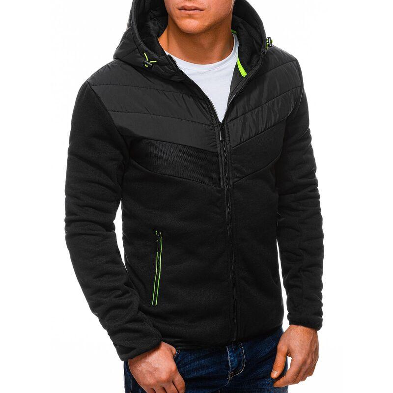 Edoti Mens zip-up sweatshirt B1255 pánské Black XL