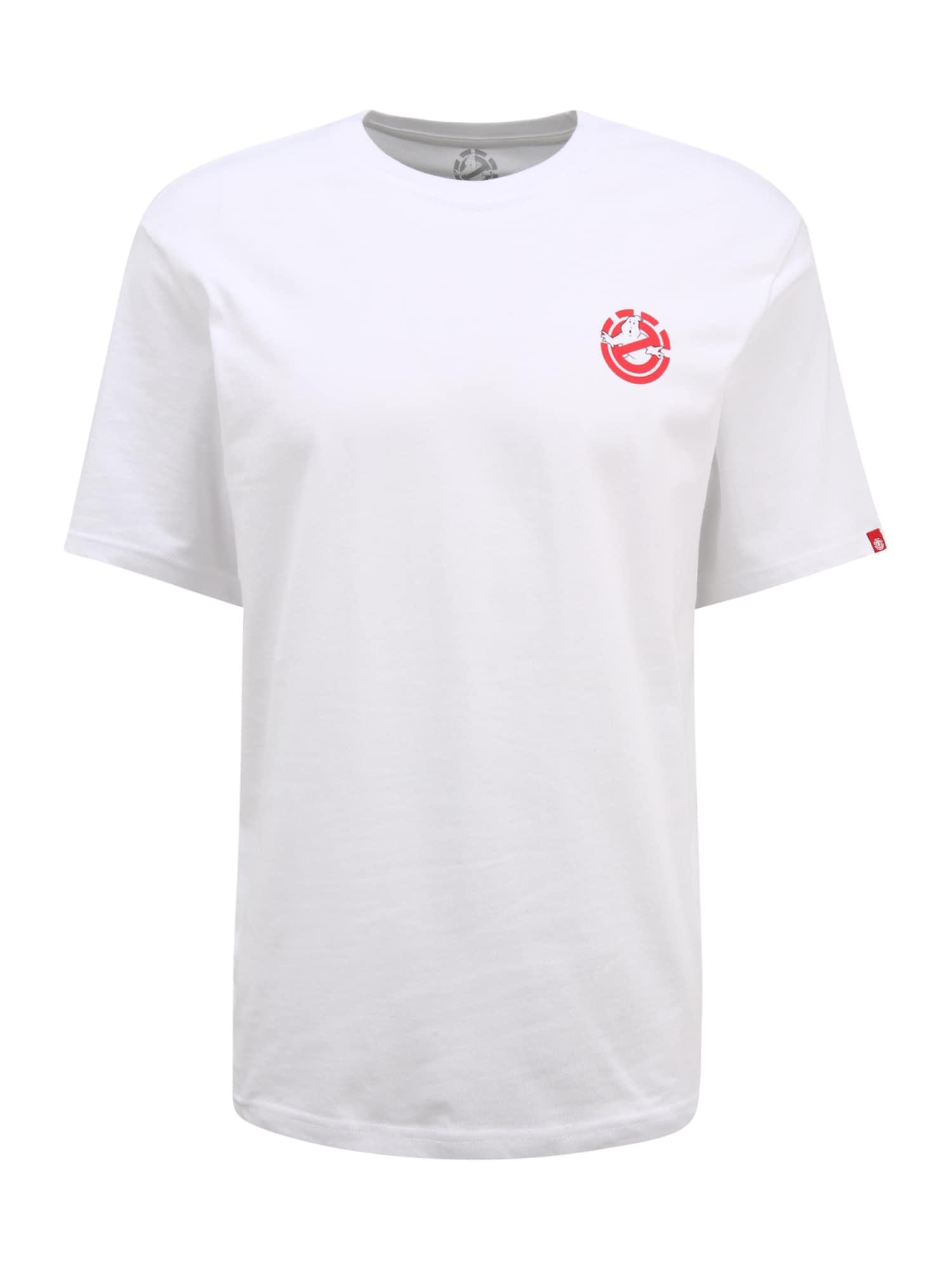 ELEMENT Tričko  biela / červená / modrá / tmavoružová / čierna pánské S