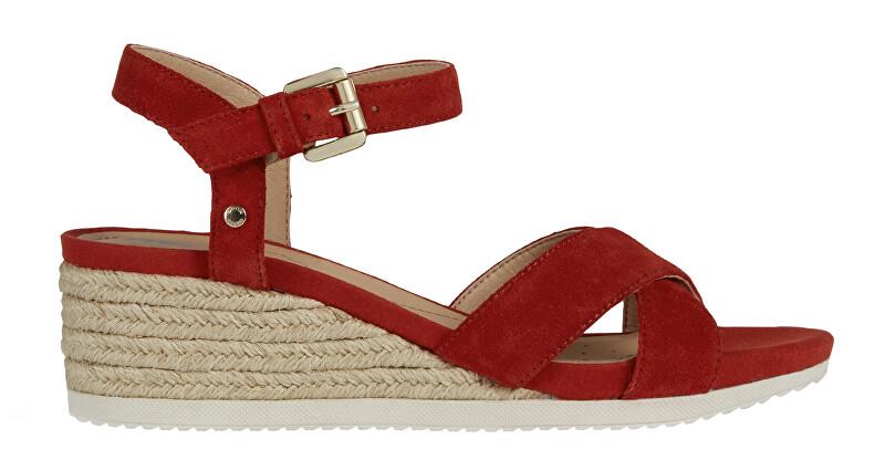 GEOX Dámske sandále D Ischia Corda Red D02HHC-00022-C7000 38 dámské