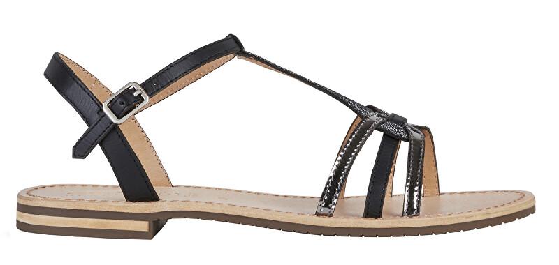 GEOX Dámske sandále D Sozy Black / Gun D022CG-01JMA-C9B1G 38 dámské
