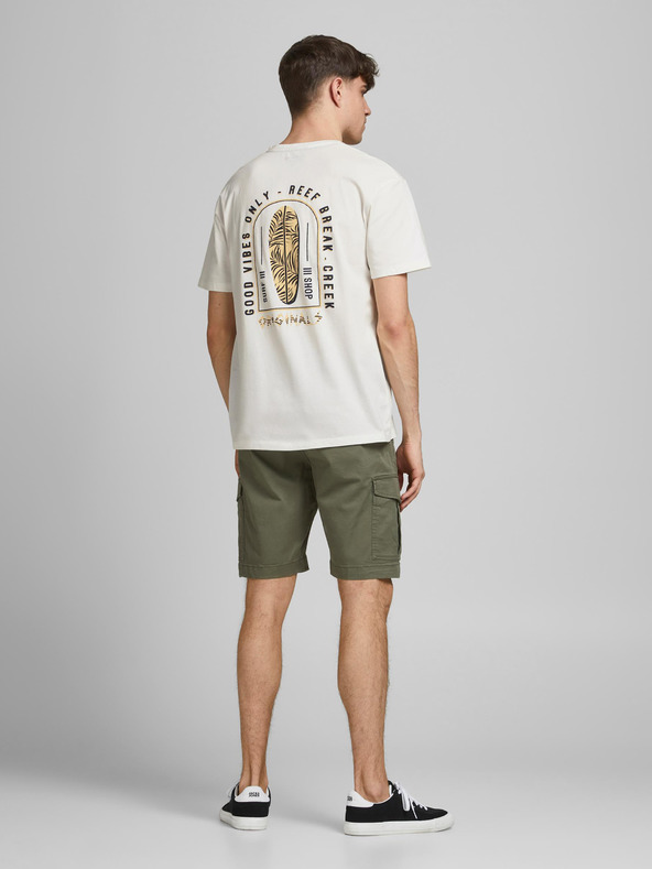 Jack & Jones Vibes Tričko Biela pánské XL