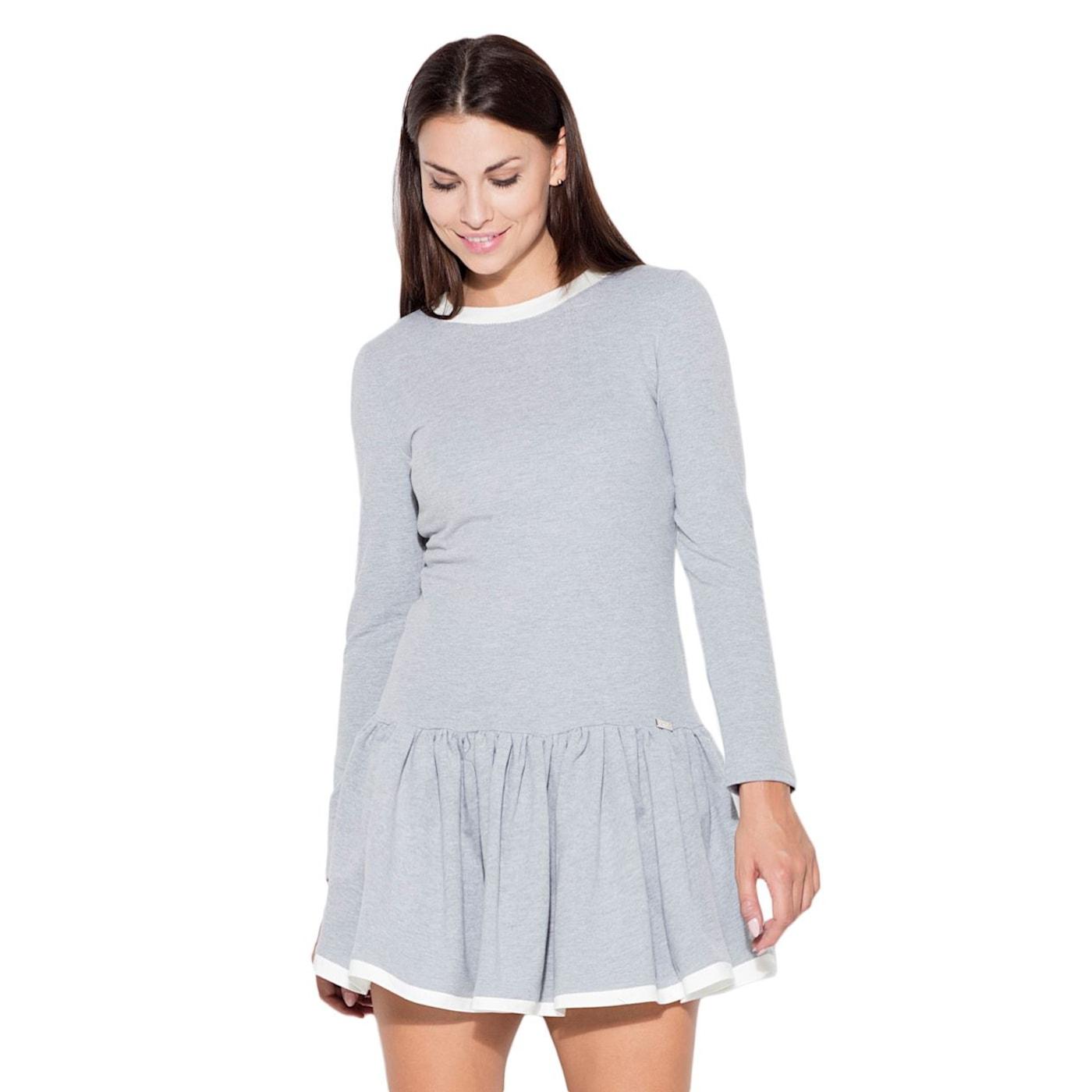 Katrus Womans Dress K266 dámské Grey M