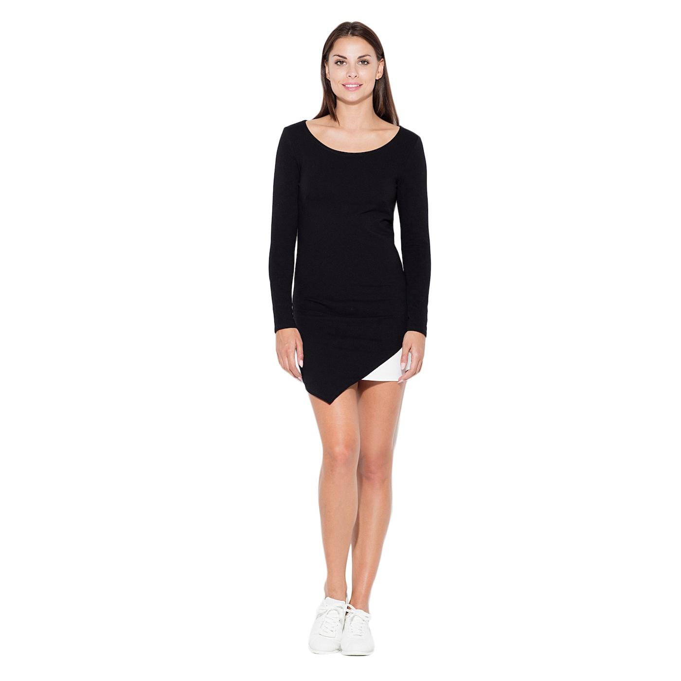Katrus Womans Dress K284 dámské Black XL