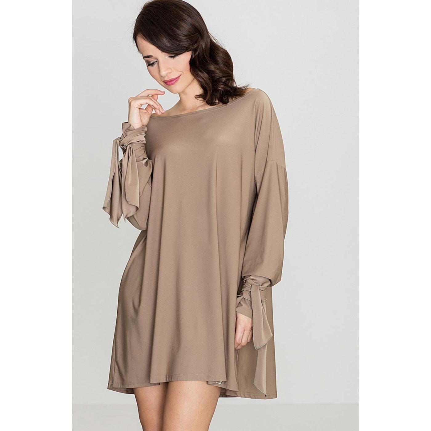 Katrus Womans Dress K439 dámské Beige L