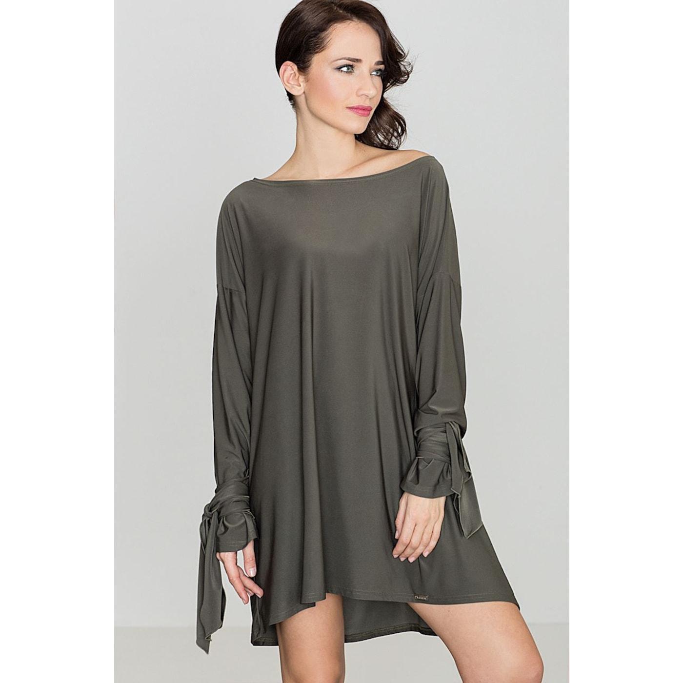 Katrus Womans Dress K439 dámské Olive green L
