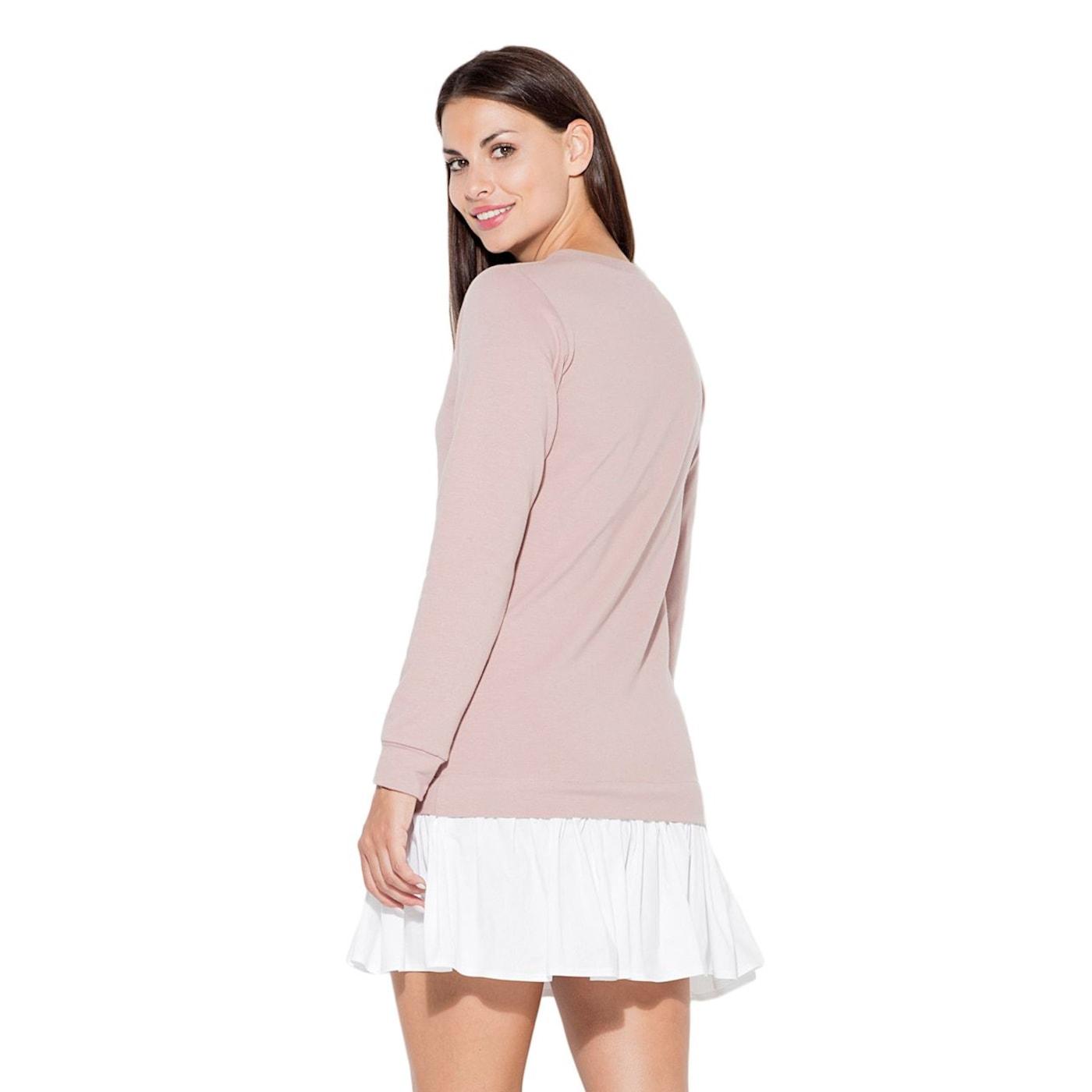 Katrus Womans Dress K451 dámské Pink XL