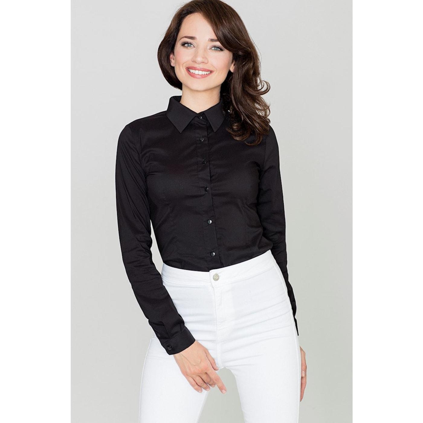 Katrus Womans Shirt K240 dámské Black XL