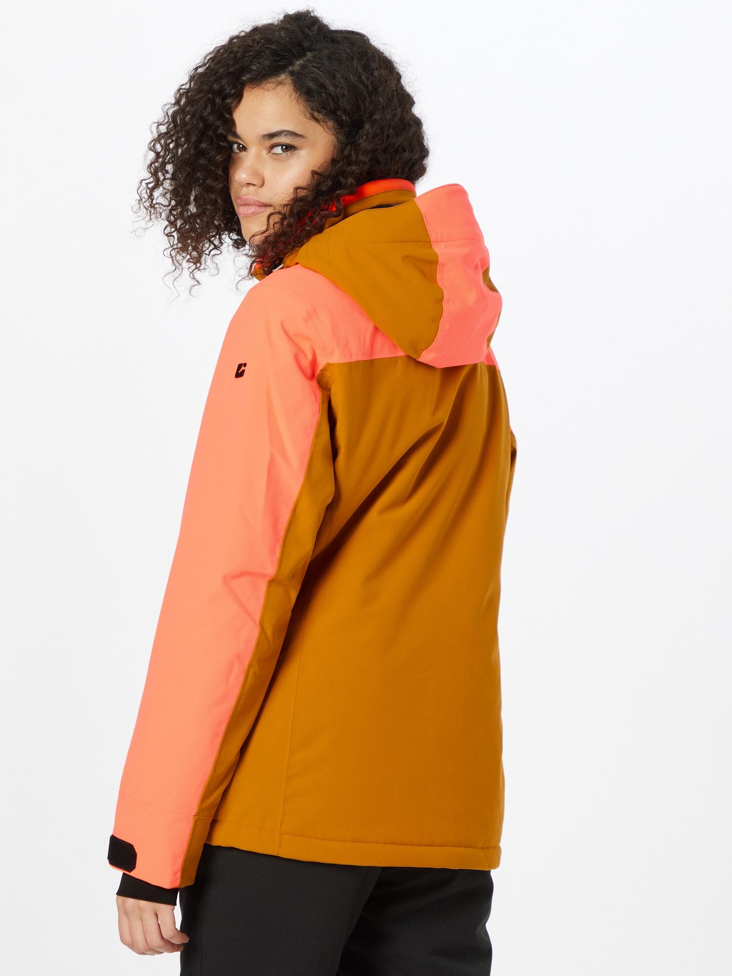 KILLTEC Outdoorová bunda  lososová / koňaková dámské M