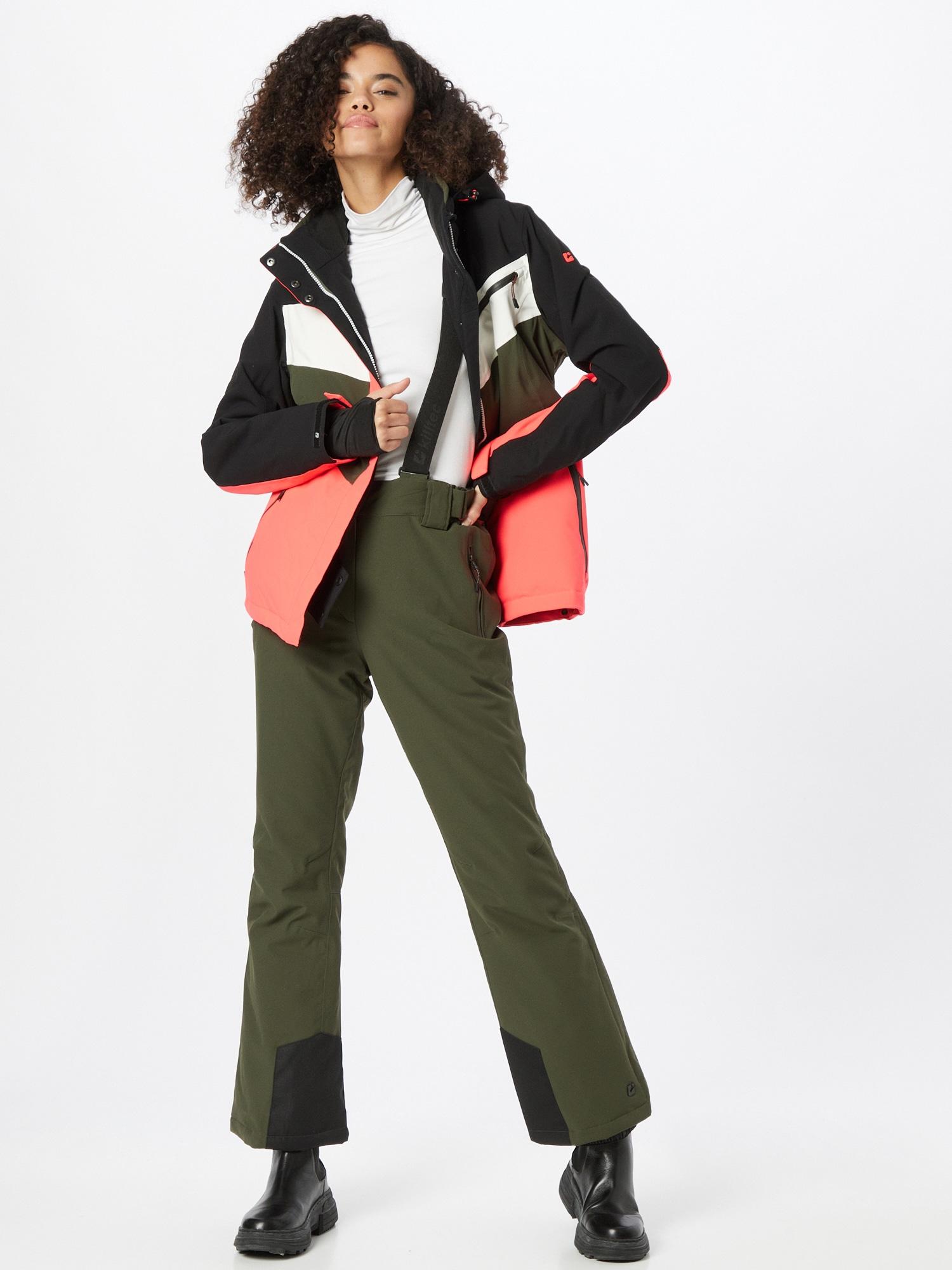 KILLTEC Outdoorové nohavice  olivová / čierna dámské M