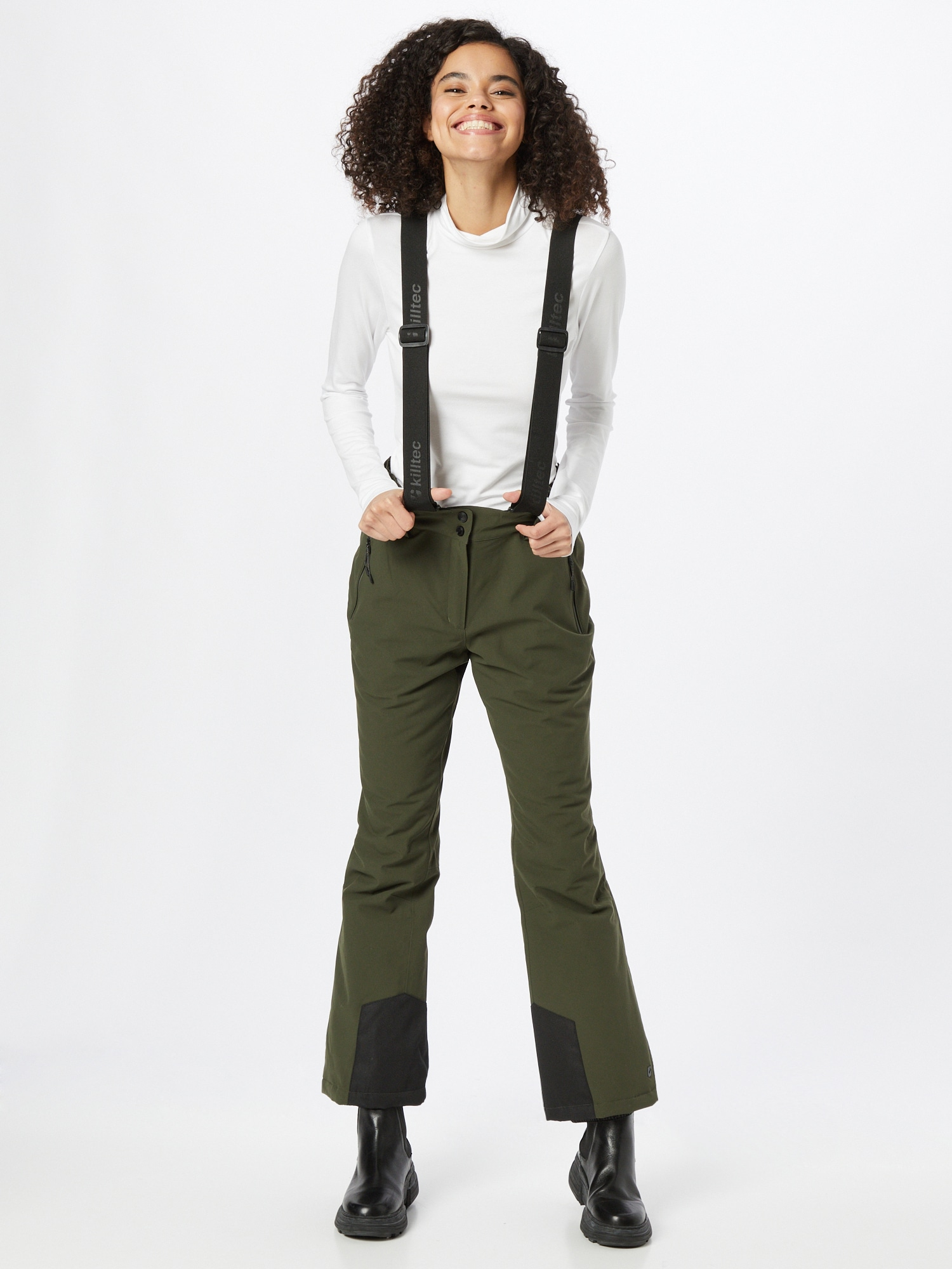 KILLTEC Outdoorové nohavice  olivová / čierna dámské S