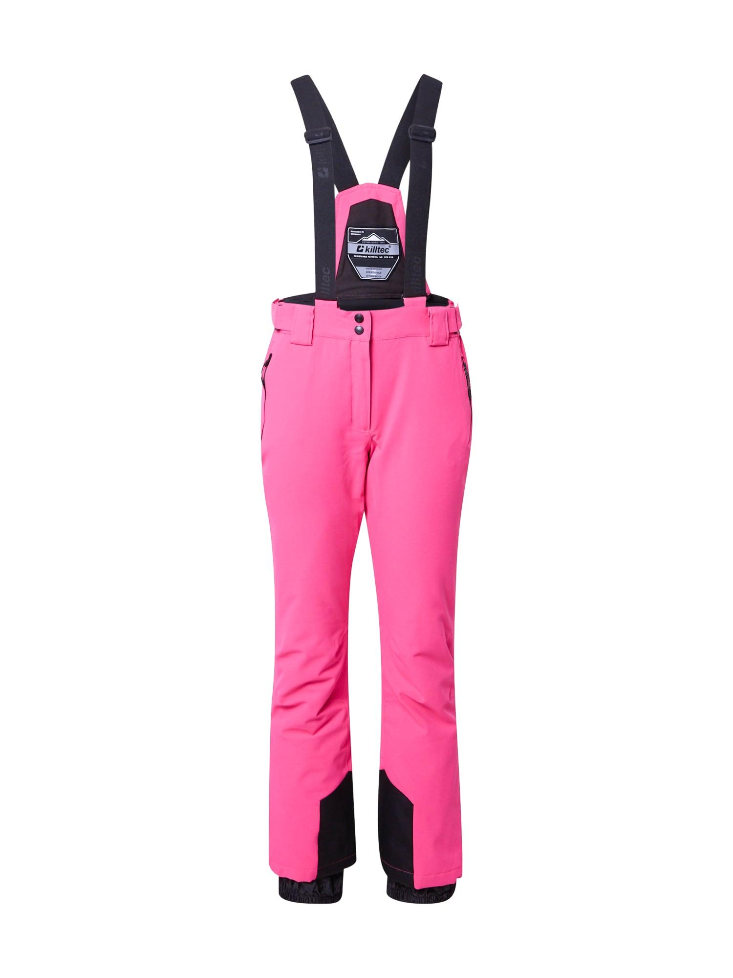 KILLTEC Outdoorové nohavice  ružová / čierna dámské M-L