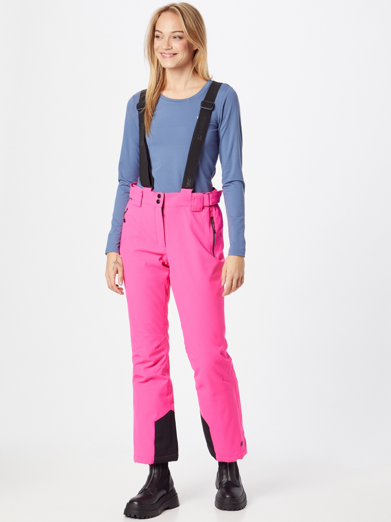 KILLTEC Outdoorové nohavice  ružová / čierna dámské M