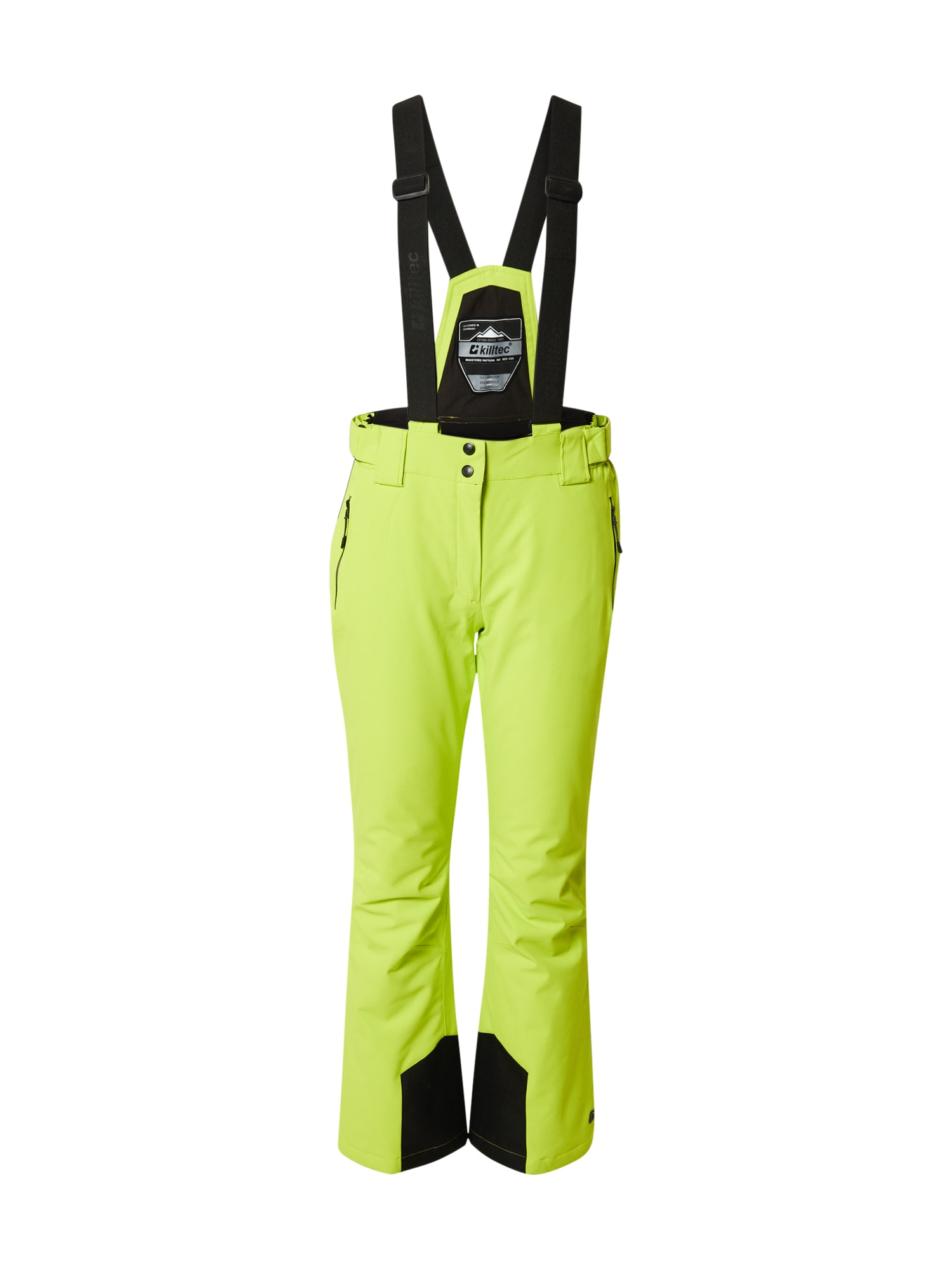 KILLTEC Outdoorové nohavice  svetlozelená / čierna dámské S-M