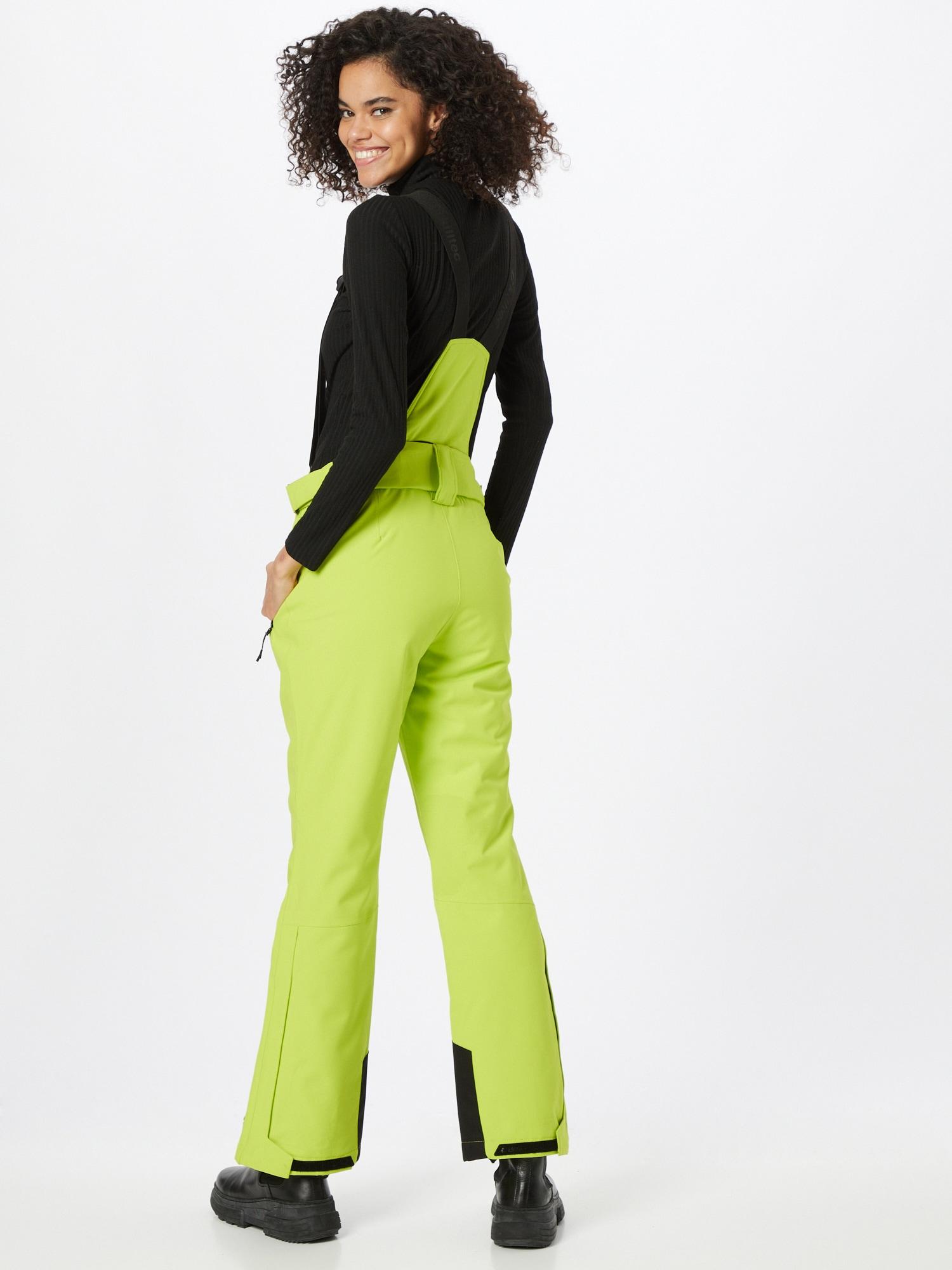 KILLTEC Outdoorové nohavice  svetlozelená / čierna dámské XS-S
