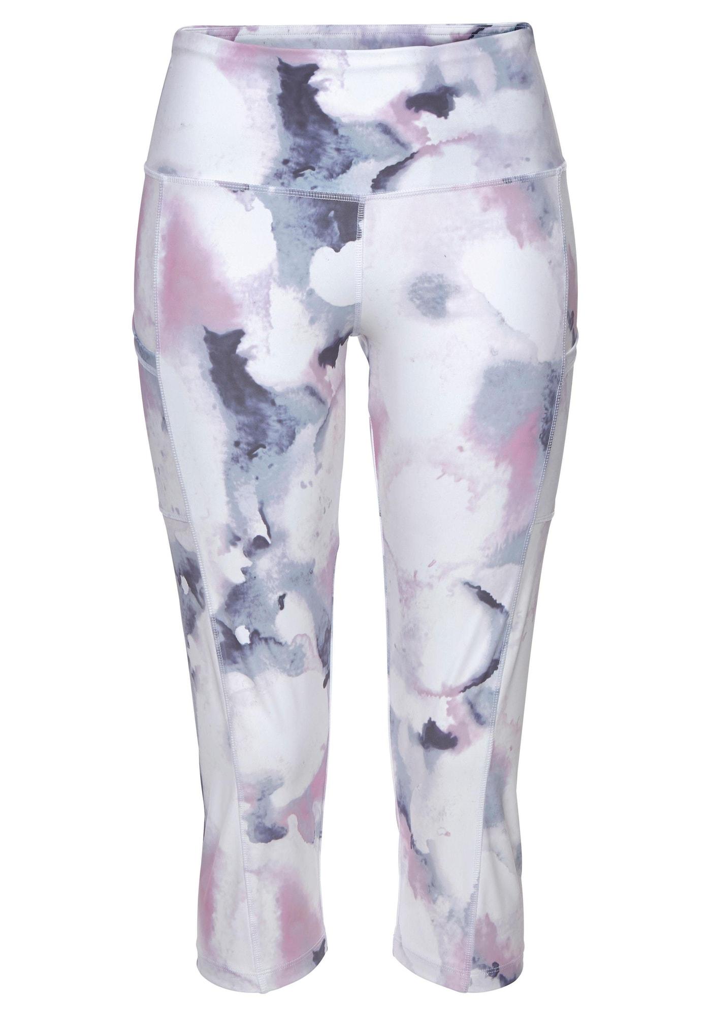 LASCANA ACTIVE Športové nohavice LA Performance Basic Cap  biela / námornícka modrá / ružová dámské S