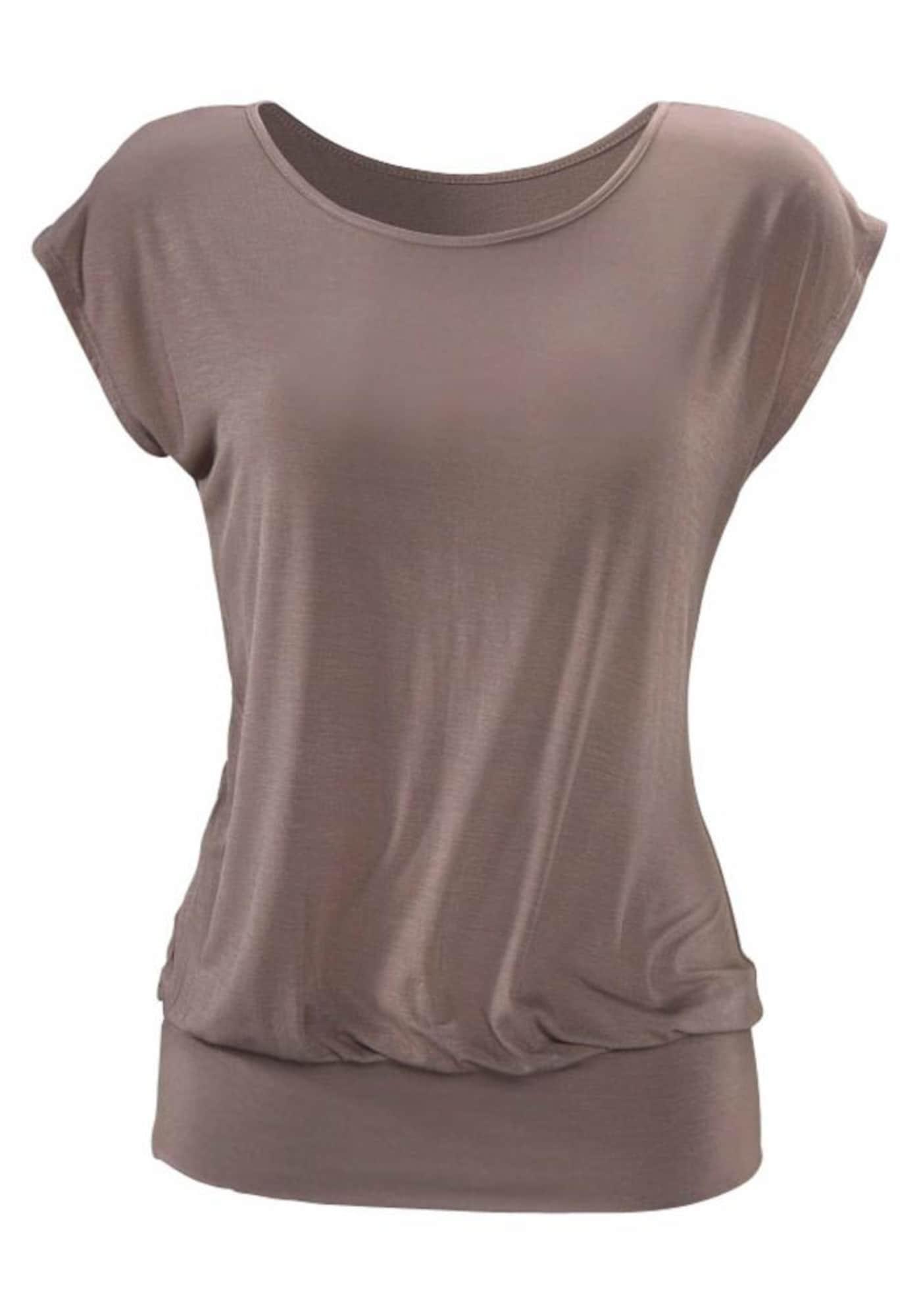 LASCANA Tričko  farby bahna dámské S
