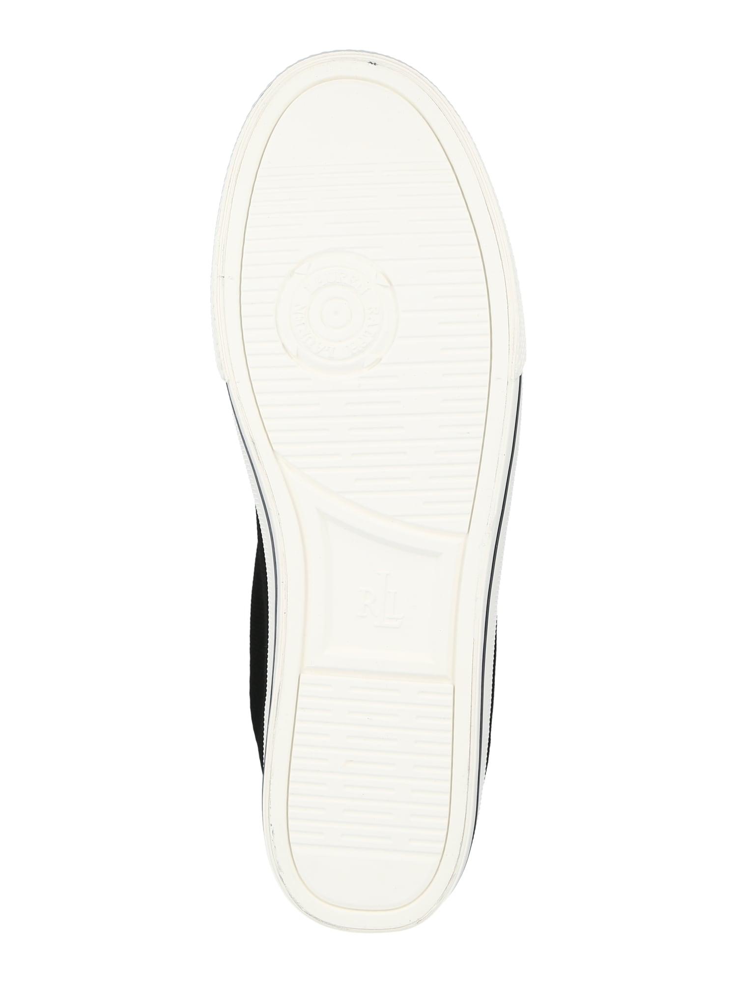 Lauren Ralph Lauren Papuče  čierna / biela dámské 36,5
