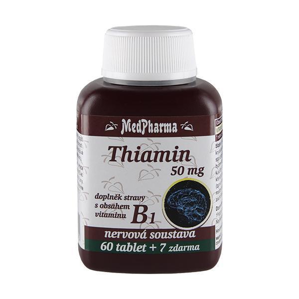 MedPharma Thiamin 50 mg – doplněk stravy s obsahem vitamínu B1 60 tbl.   7 tbl. ZDARMA
