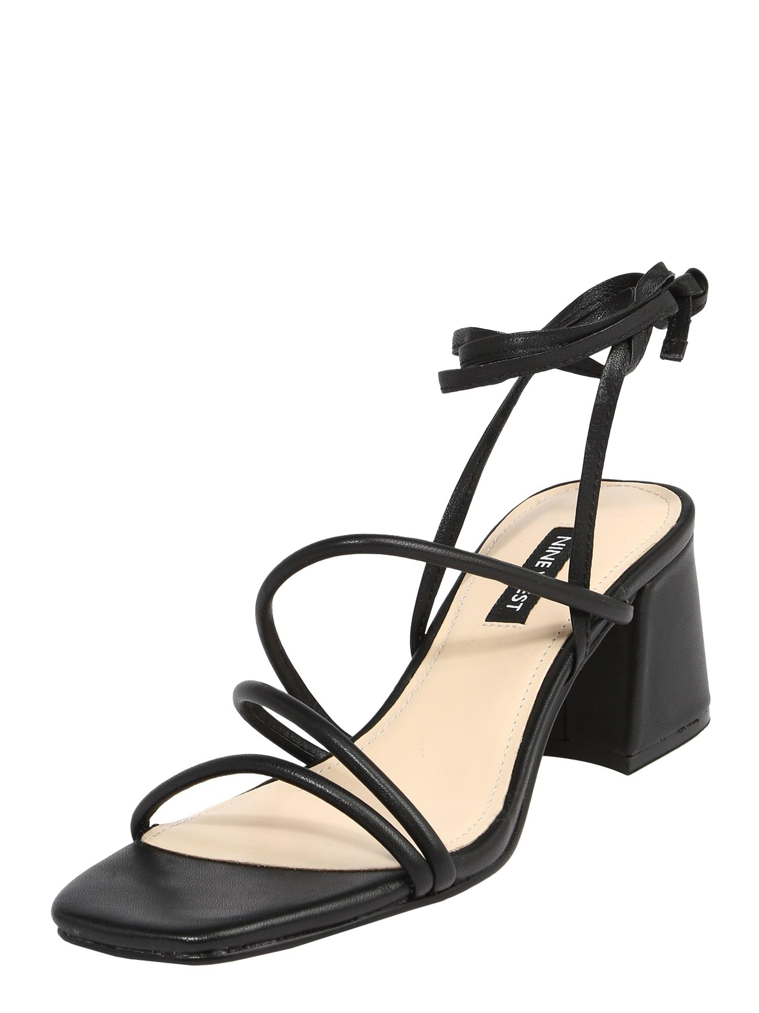 Nine West Remienkové sandále WNGORG  čierna dámské 37