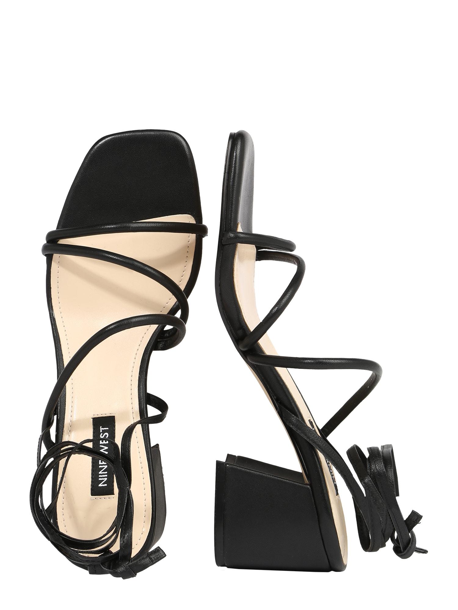 Nine West Remienkové sandále WNGORG  čierna dámské 39