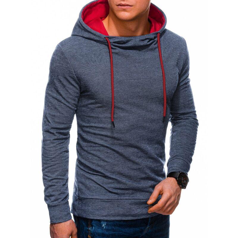 Ombre Clothing Mens hoodie B1220 pánské Navy S