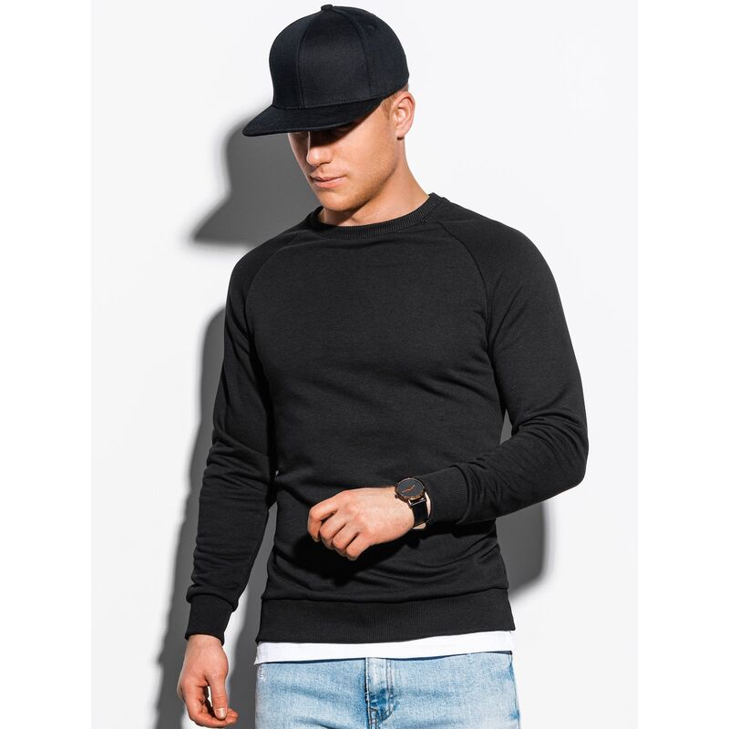 Ombre Clothing Mens sweatshirt B1217 pánské Black XL