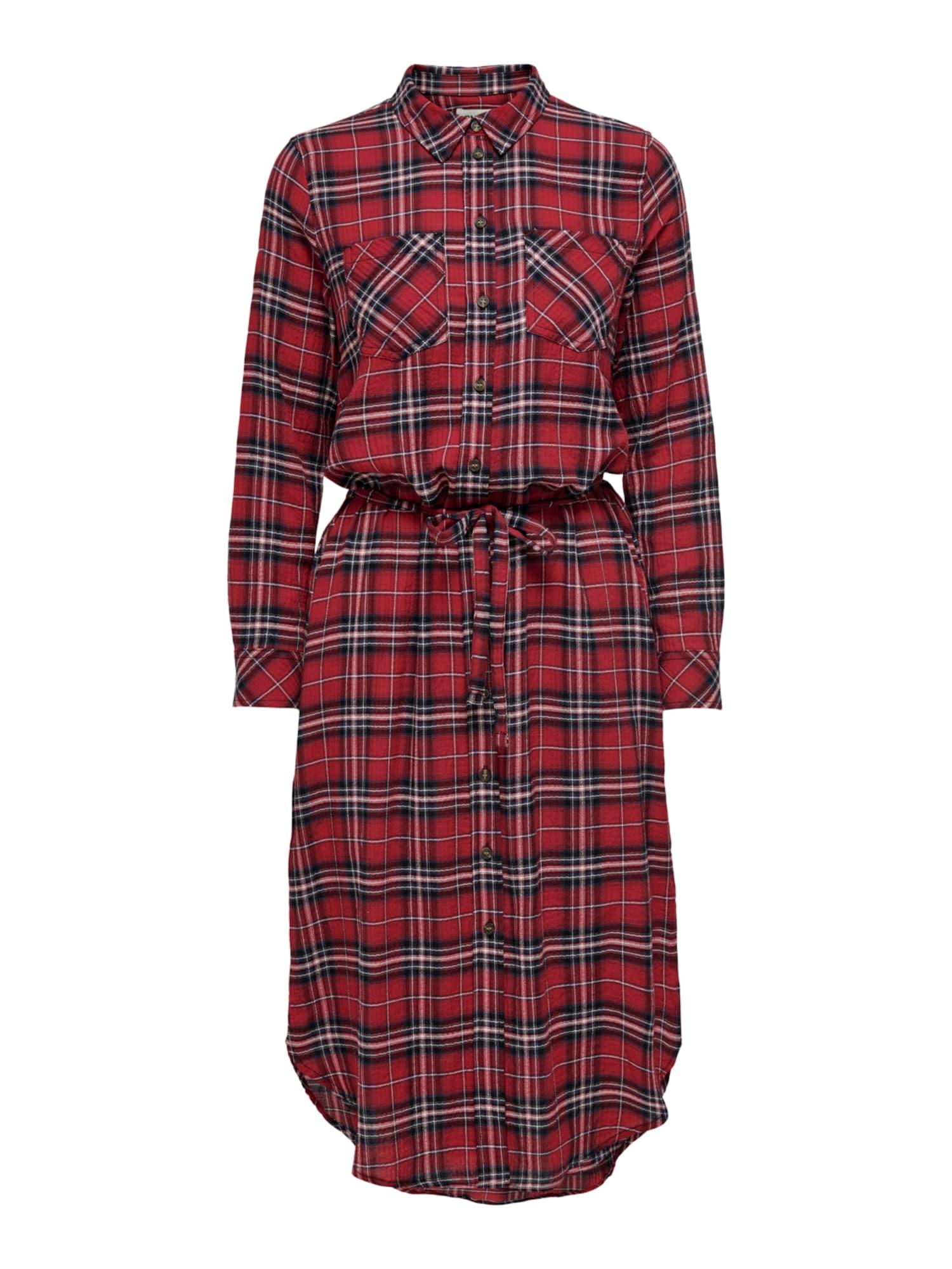 ONLY Košeľové šaty PINA  červená / čierna / biela dámské 36