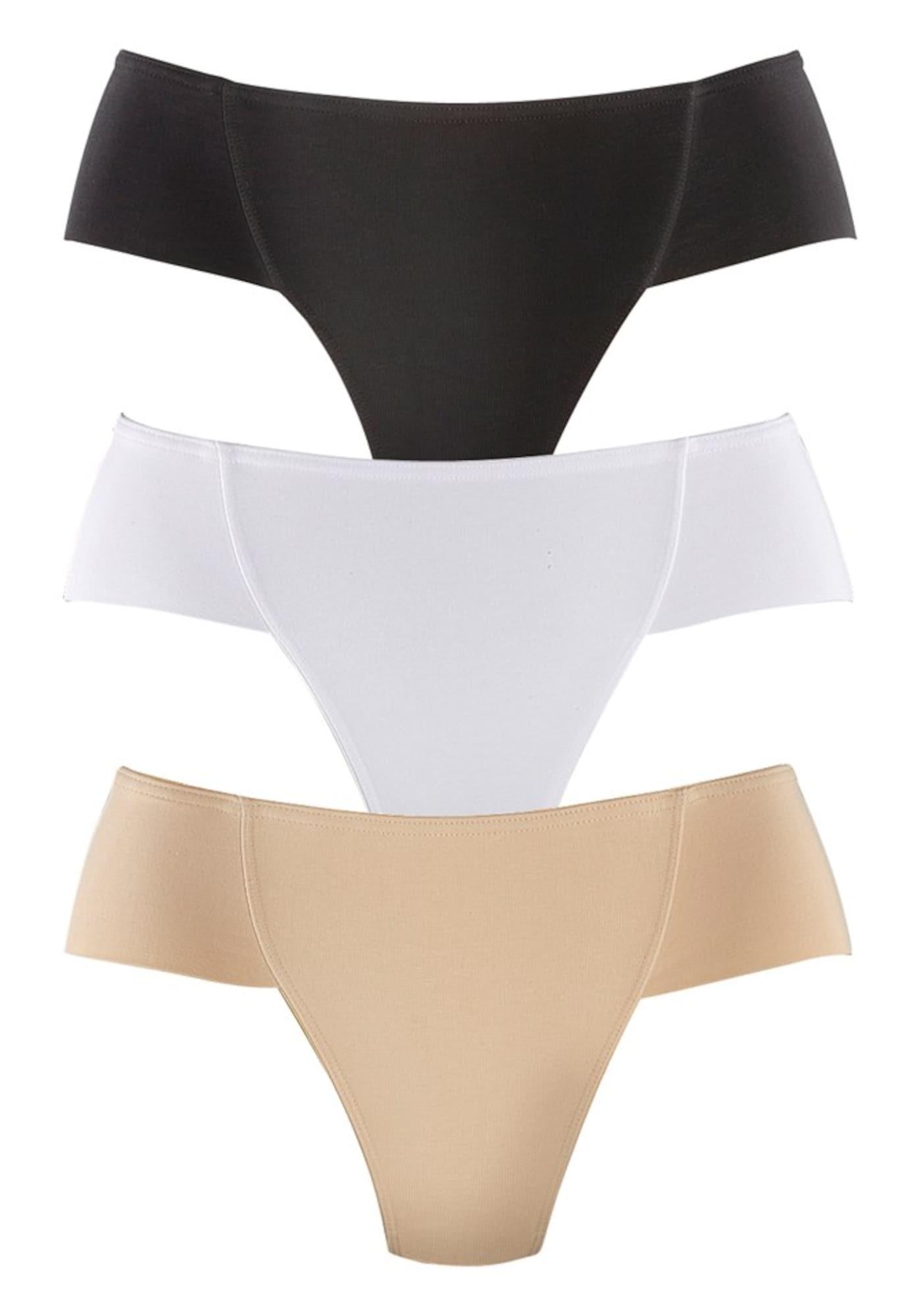 PETITE FLEUR Formujúce nohavičky  telová / čierna / biela dámské M