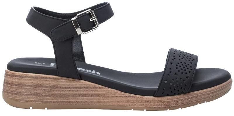 Refresh Dámske sandále Black Nobuko Pu Ladies Sandals 72208 Black 36 dámské