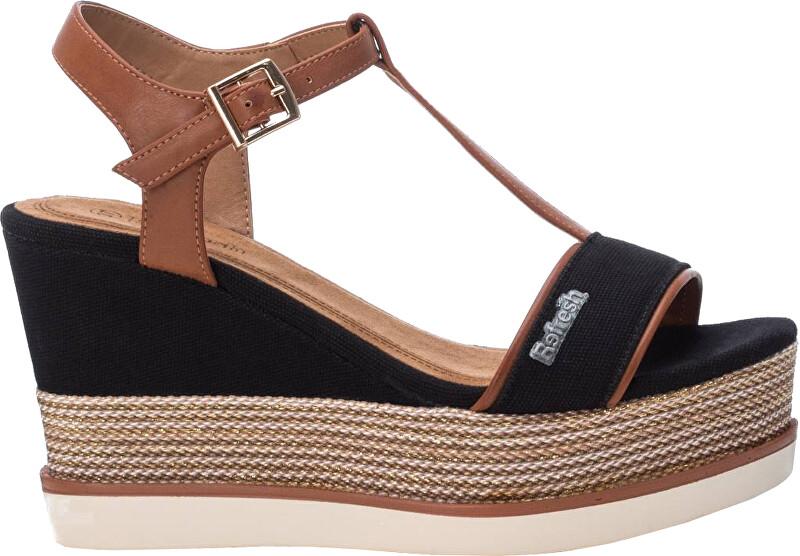 Refresh Dámske sandále Black Pu Combined Ladies Sandals 69580 Black 40 dámské