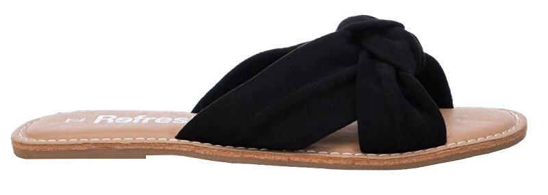 Refresh Dámske šľapky Black Microfiber Ladies Sandals 69687 Black 37 dámské