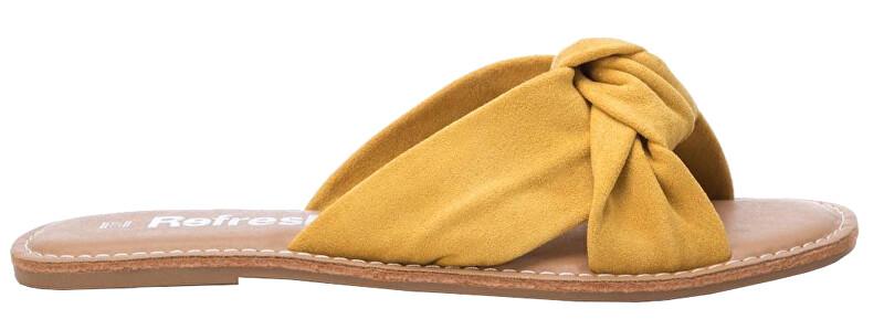 Refresh Dámske šľapky Yellow Microfiber Ladies Sandals 69687 Yellow 38 dámské