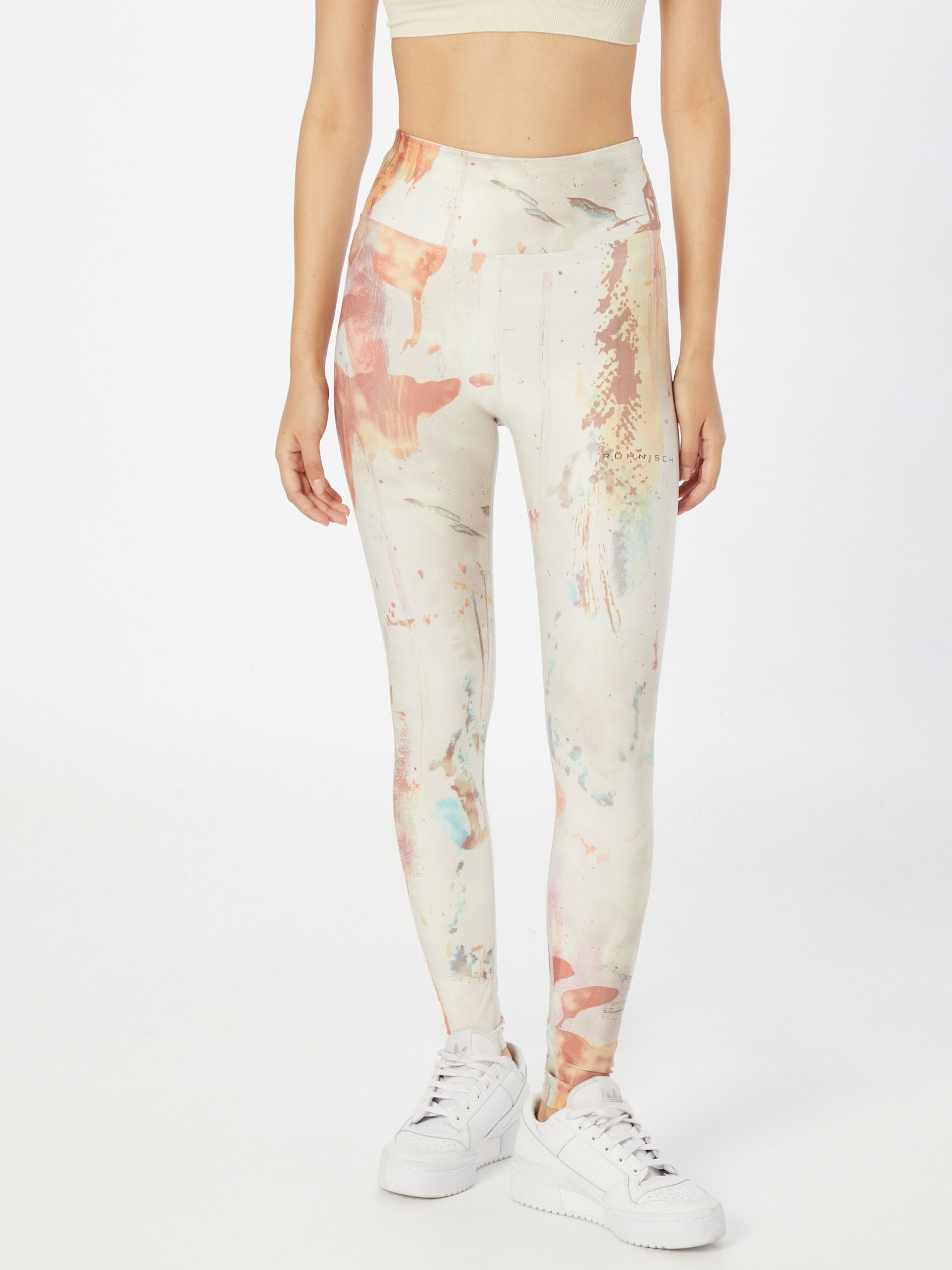 Röhnisch Športové nohavice KEIRA  biela / pastelovo červená / vodová / pastelovo ružová dámské S