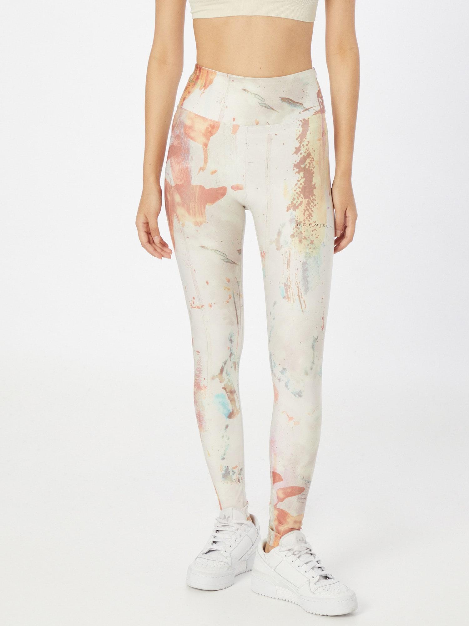 Röhnisch Športové nohavice KEIRA  biela / pastelovo červená / vodová / pastelovo ružová dámské XS-S