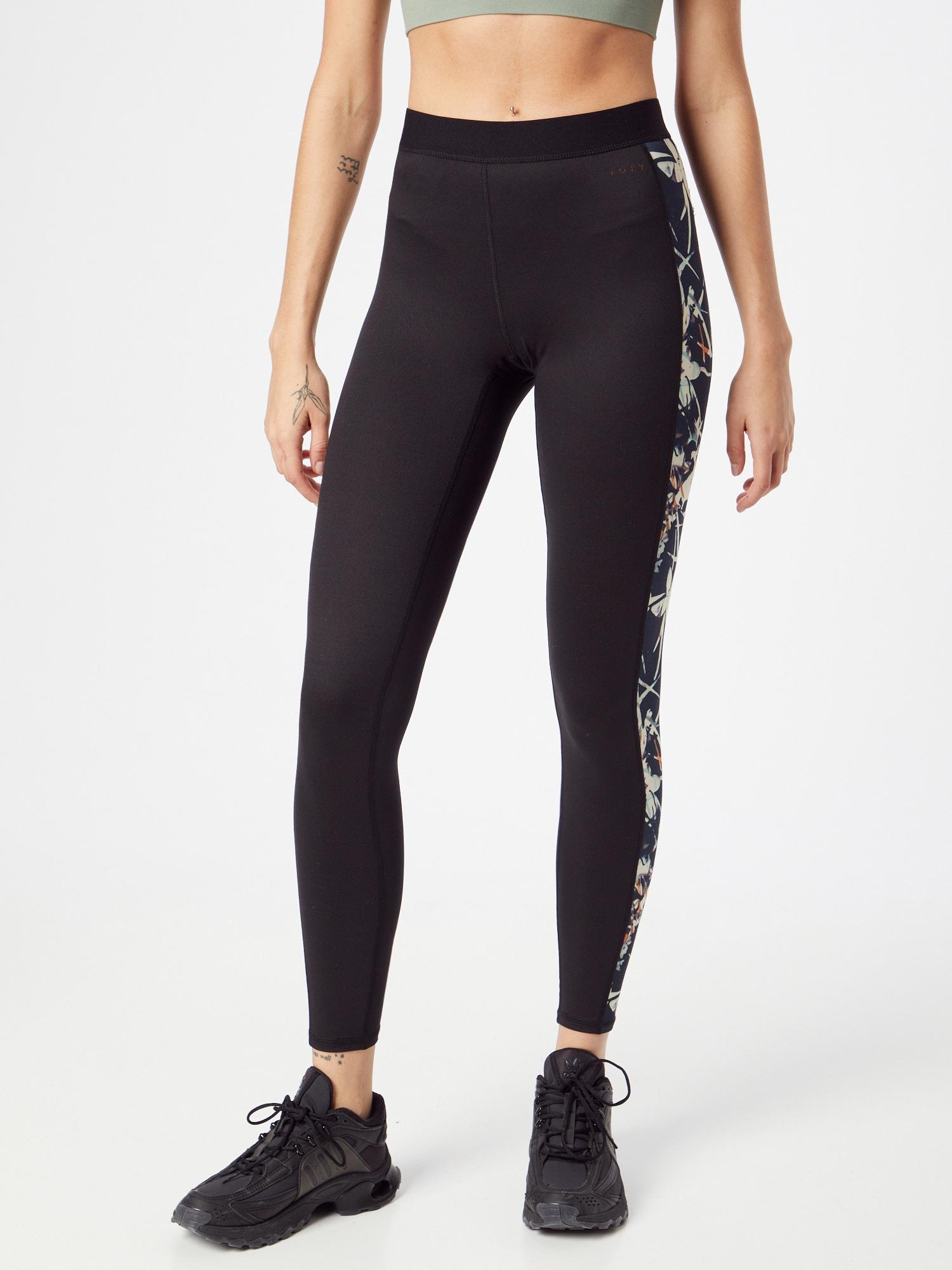 ROXY Športové nohavice FROSTED SUNSET  antracitová / tmavomodrá / biela / svetlomodrá / oranžová dámské S