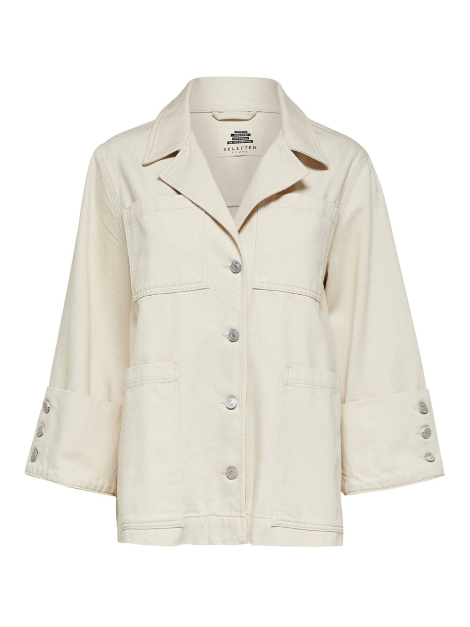 SELECTED FEMME Prechodná bunda HELENA  biely denim dámské L